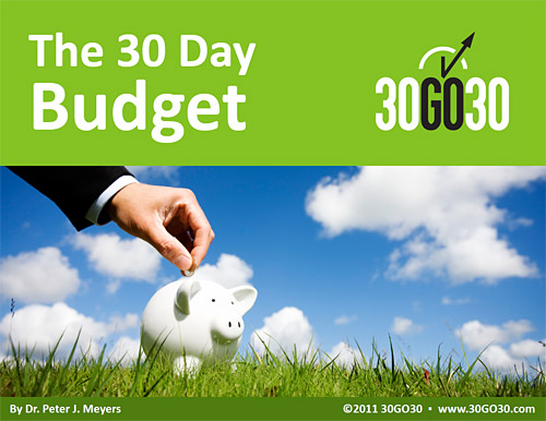 The 30 Day Budget